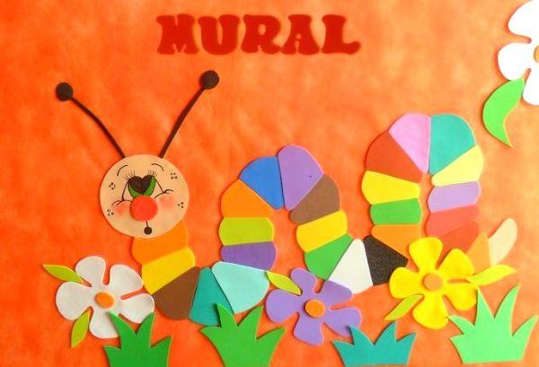 Mural centopeia o portal das artes for Mural de isopor e eva